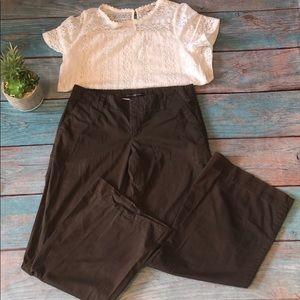 Gap wide leg size 10 brown pants